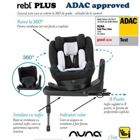 Scaun auto Nuna REBL i-Size 0-19,5 kg