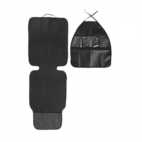 Set protectie bancheta auto si organizator scaun auto Caretero