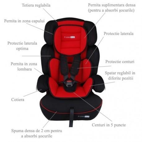 BabyGo – Scaun auto 9-36 kg FreeMove ROSU